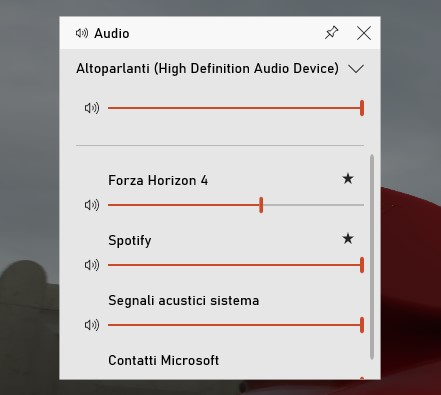 Barra di gioco Xbox su Windows 10 preferiti per il controllo audio