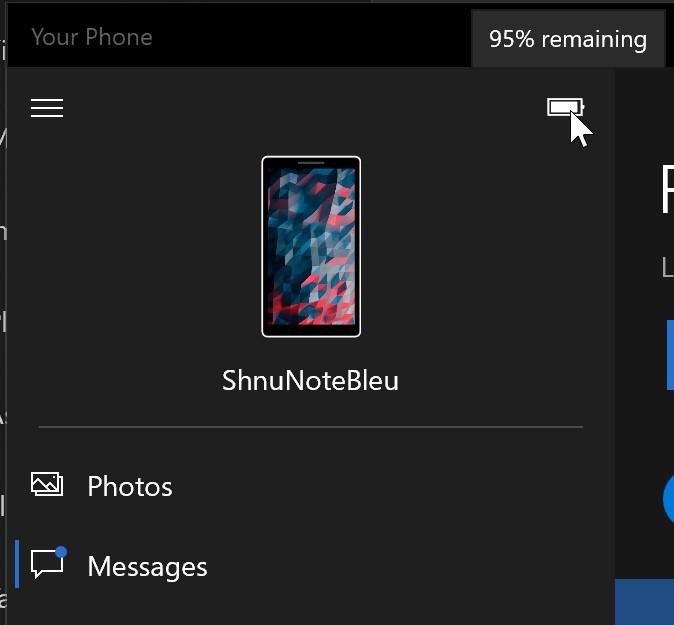 Il tuo telefono per Windows 10 sincronizzazione sfondo smartphone