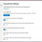 PowerToys su Windows 10 impostazioni FancyZones 1