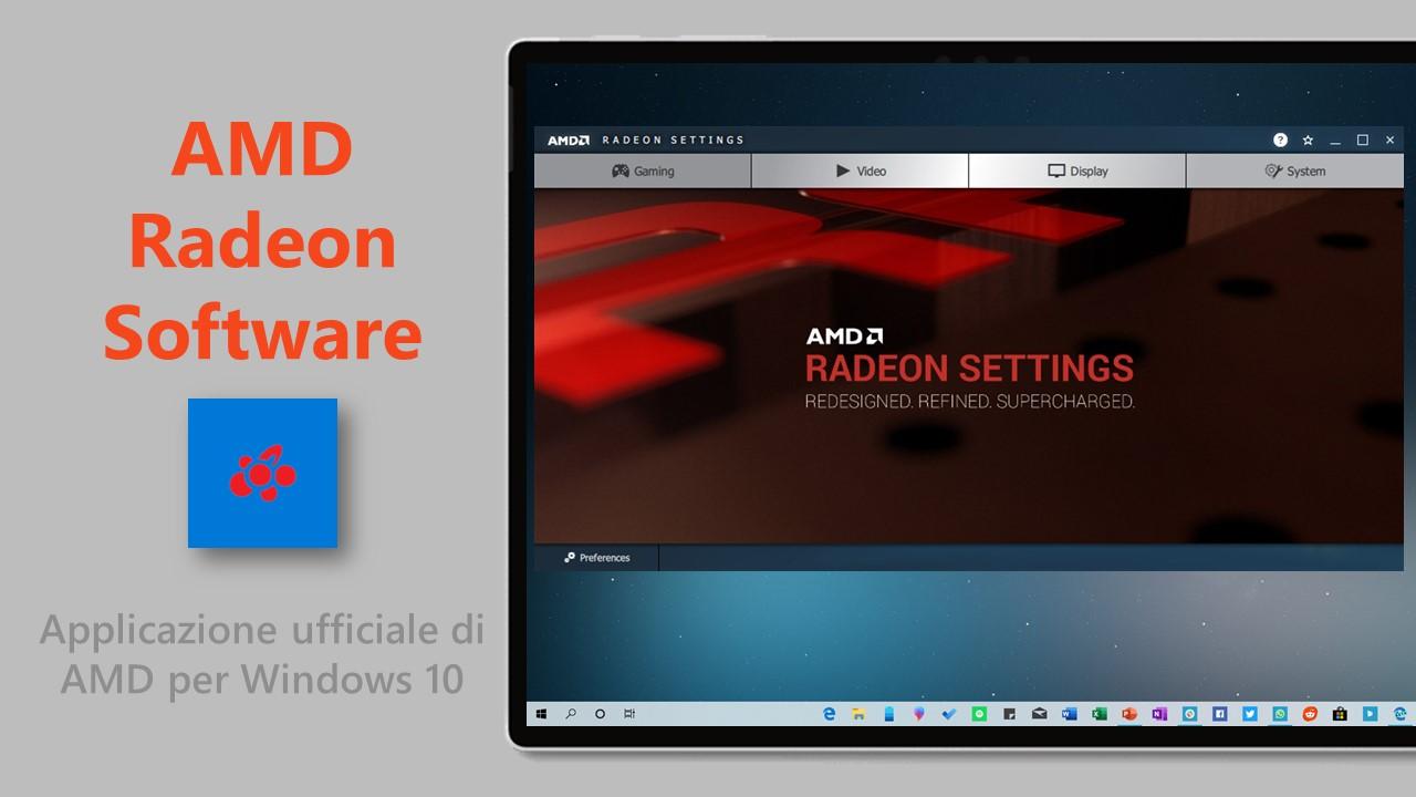 AMD Radeon Software Windows 10
