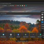 Microsoft Edge Dev per Windows 10 pagina nuova scheda personalizzabile con tema scuro