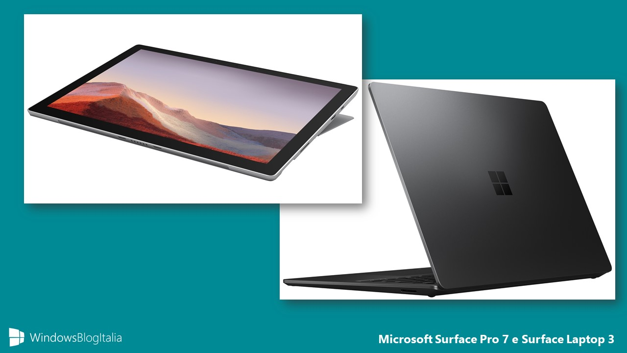 Microsoft Surface Pro 7 e Surface Laptop 3