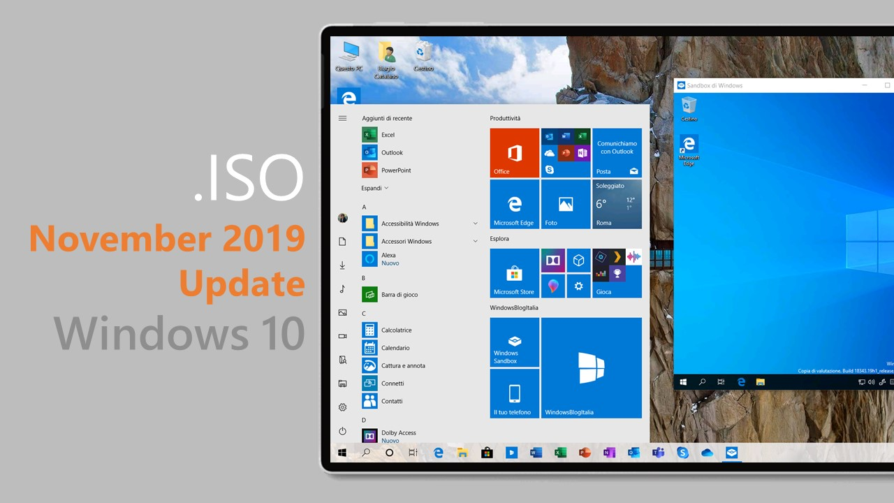 Download .ISO di Windows 10 November 2019 Update tramite My Visual Studio (MSDN)