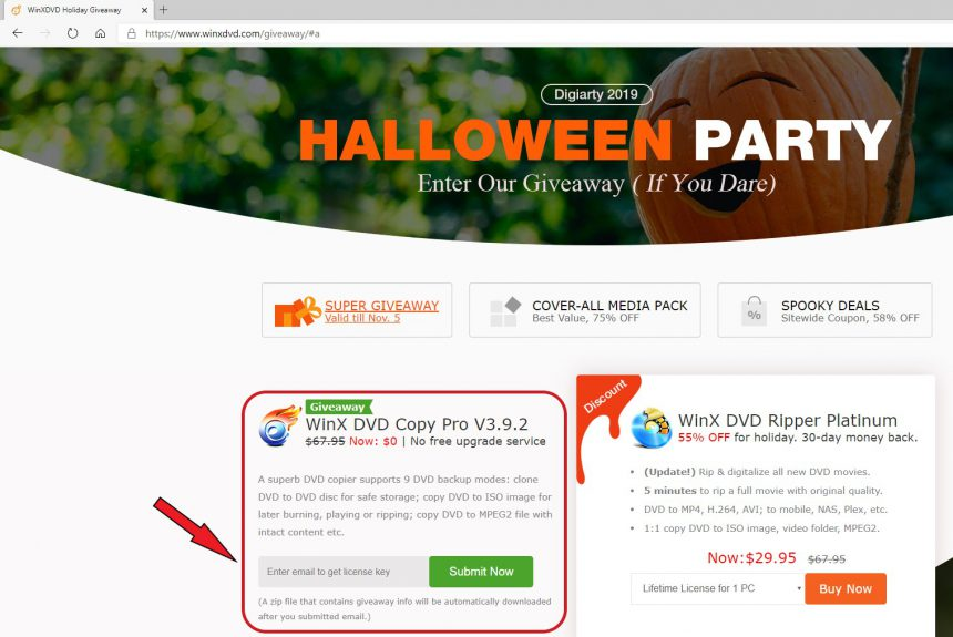 WinX DVD Copy Pro come ottenere licenza gratis