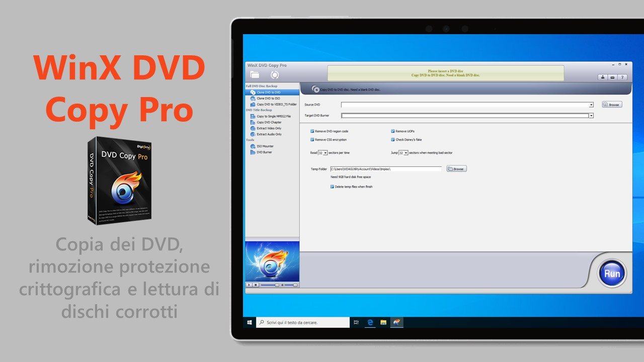 WinX DVD Copy Pro per Windows