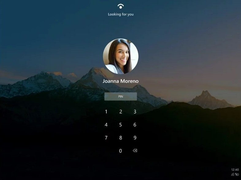 Windows 10X nuovo design schermata di login