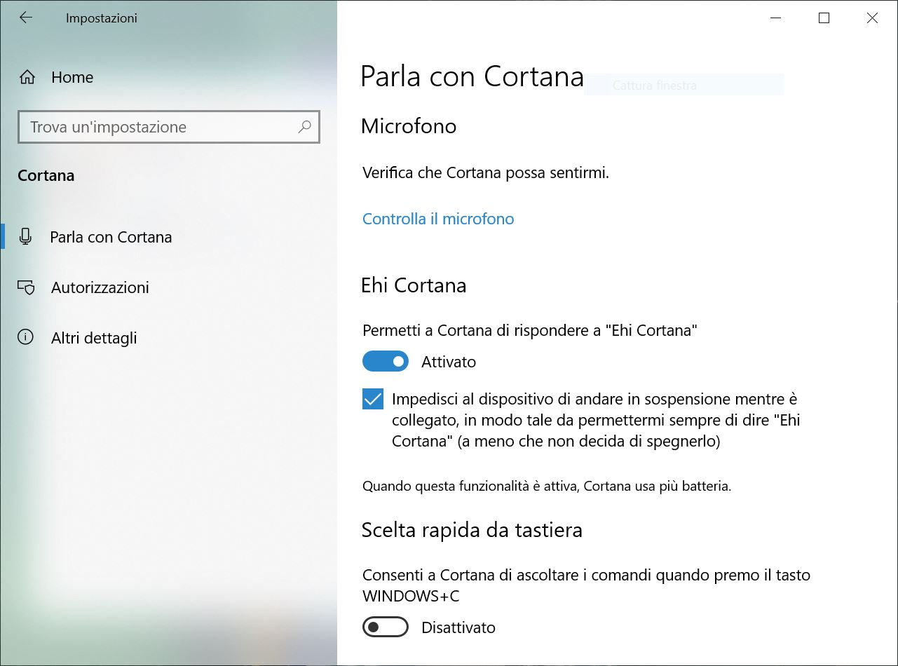 Cortana privacy