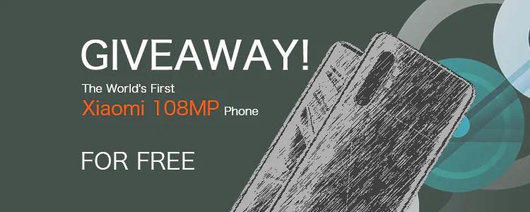 Giveaway Xiaomi Mi Note 10 108 MP