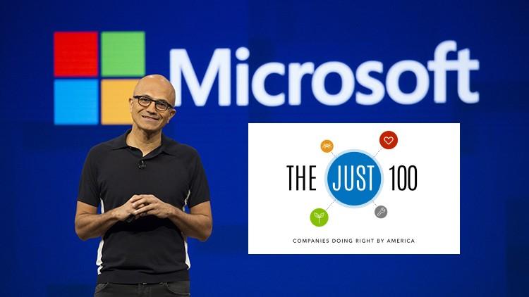 Microsoft Satya Nadella classifica The Just 100 Forbes