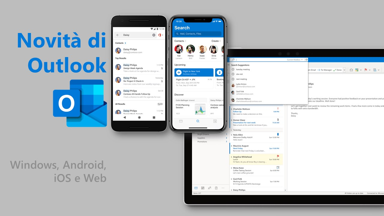 Novità Microsoft Outlook in arrivo nel 2020 per Windows, Android, iOS e Web