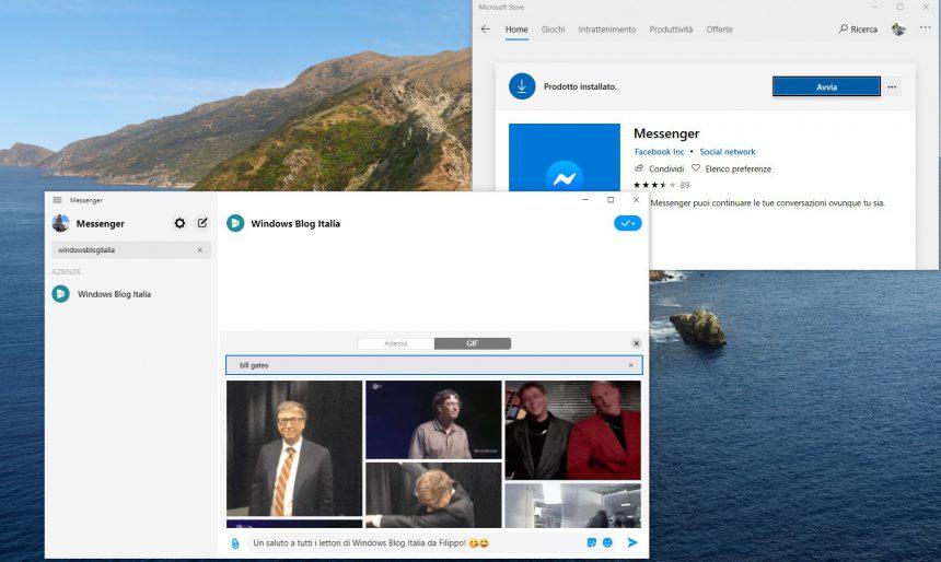 Nuova applicazione Facebook Messenger per Windows 10 aggiornamento pubblico