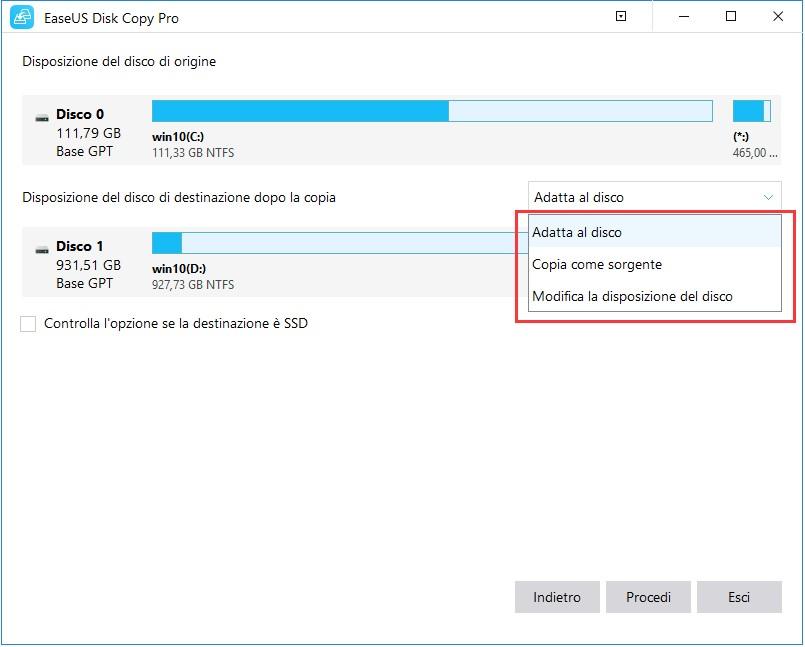 EaseUS Disk Copy Pro per Windows