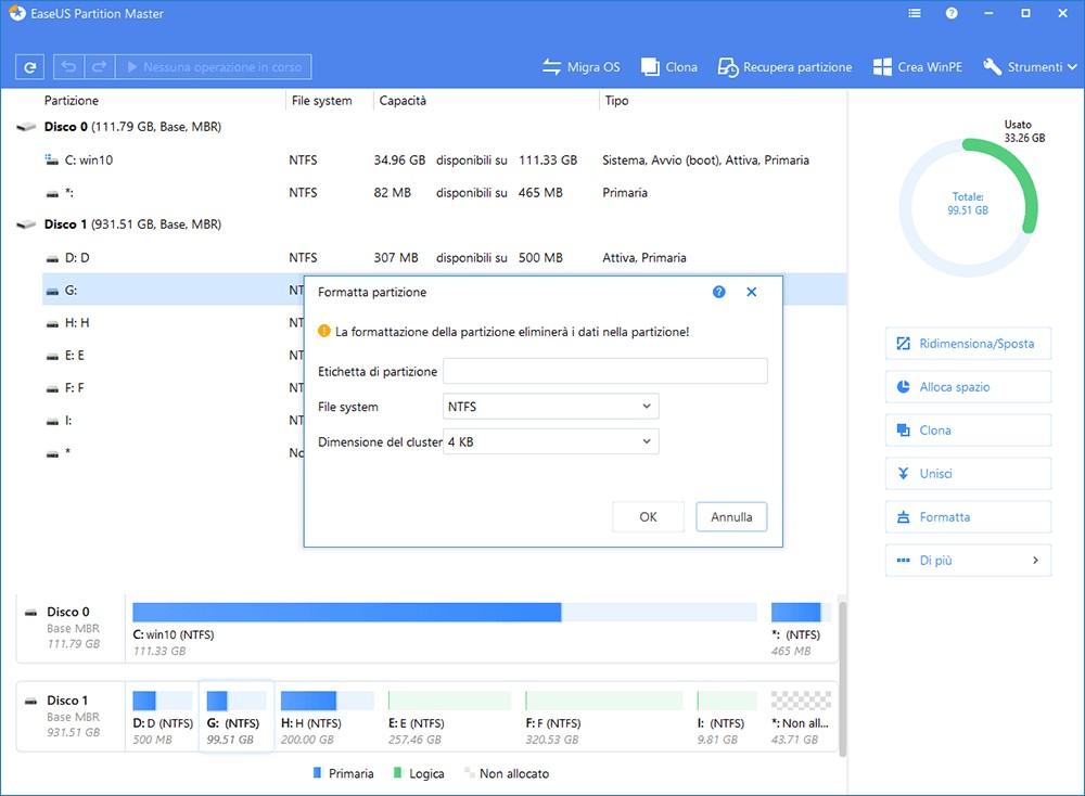 EaseUS Partition Master per Windows