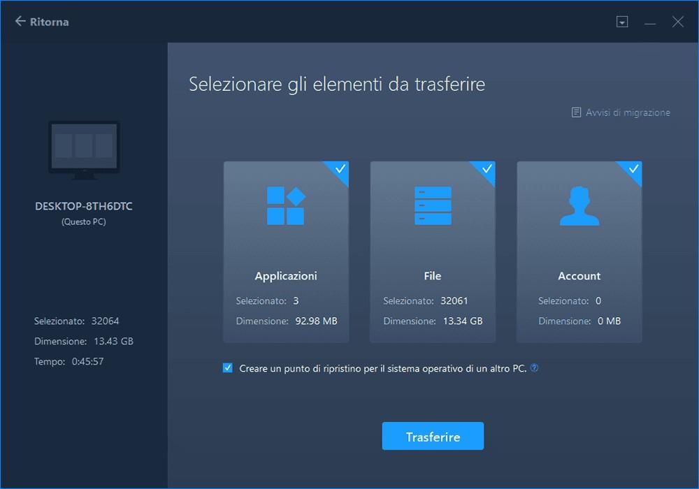EaseUS Todo PCTrans per Windows