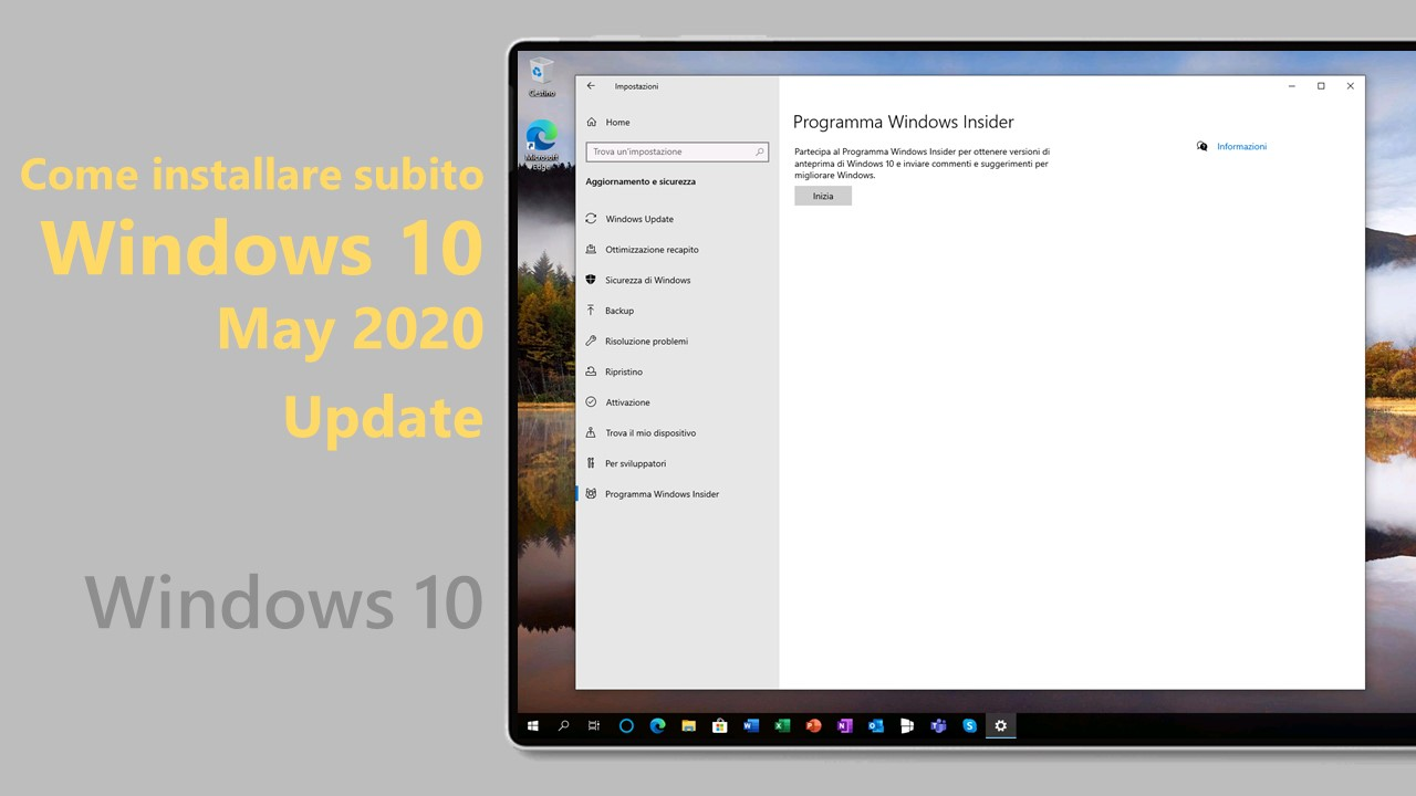Windows 10 May 2020 Update - Installare subito