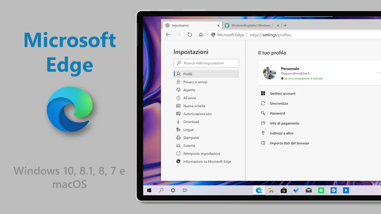 Download nuovo Microsoft Edge ufficiale base Chromium