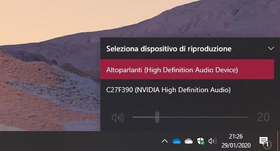Flyout volume in Windows 10