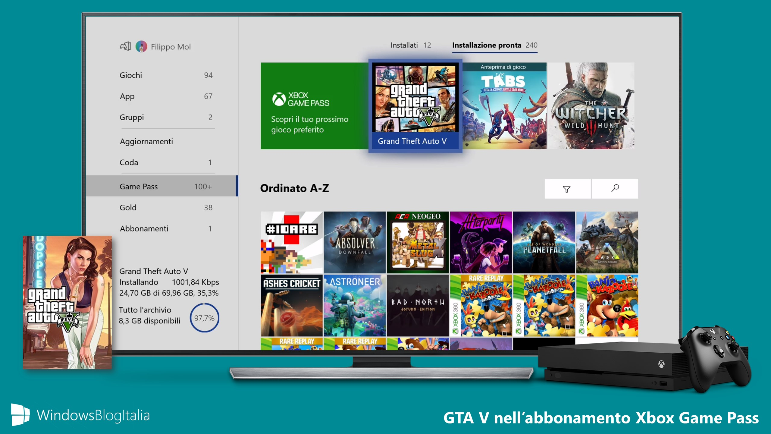 GTA V nell'abbonamento Xbox Game Pass