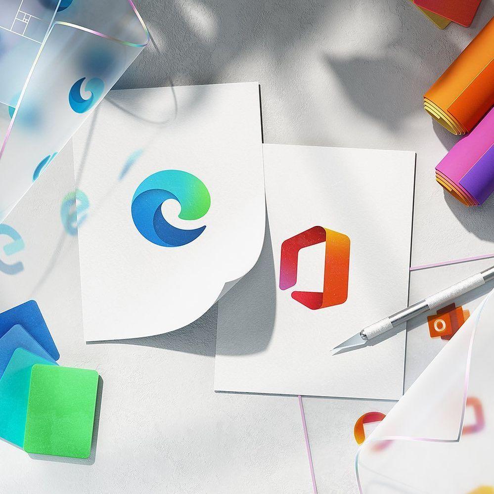 Microsoft Edge e Office nuove icone