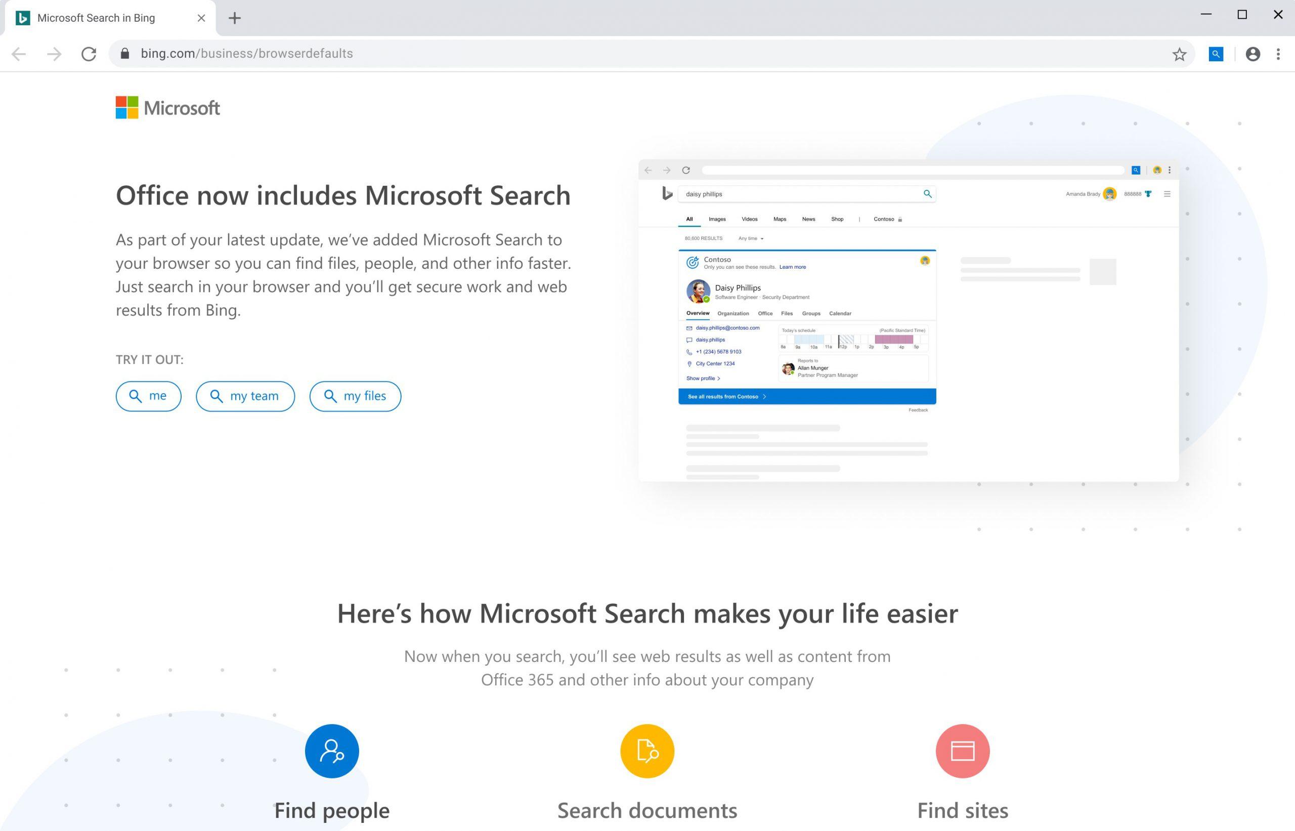 Ricerca Microsoft in Bing estensione per Google Chrome
