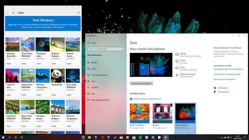 Temi scaricabili dal Microsoft Store in Windows 10