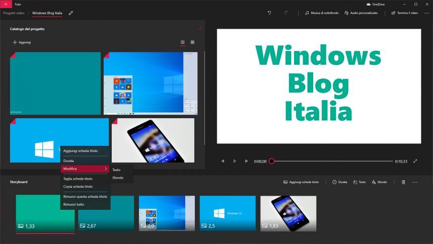Video editor app Foto di Windows 10