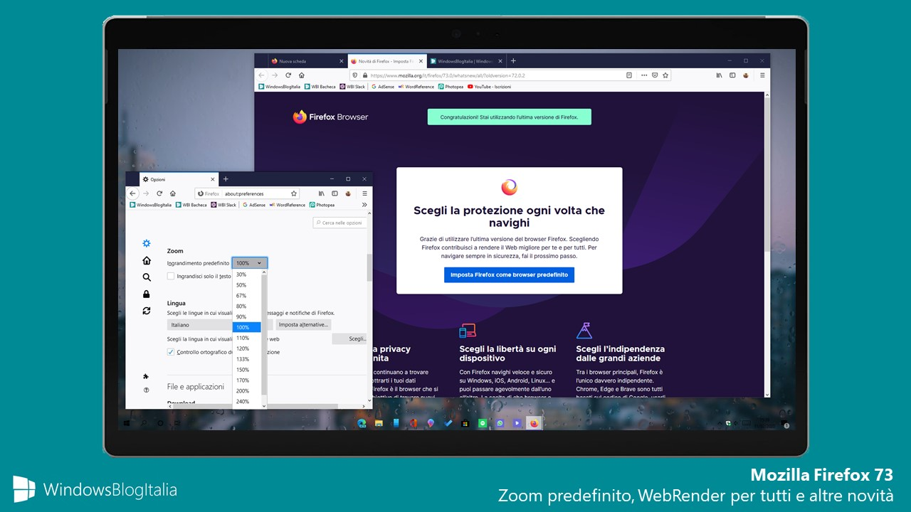 Mozilla Firefox 73 per Windows