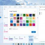 Nuova esperienza Calendario su Windows 10 scelta temi
