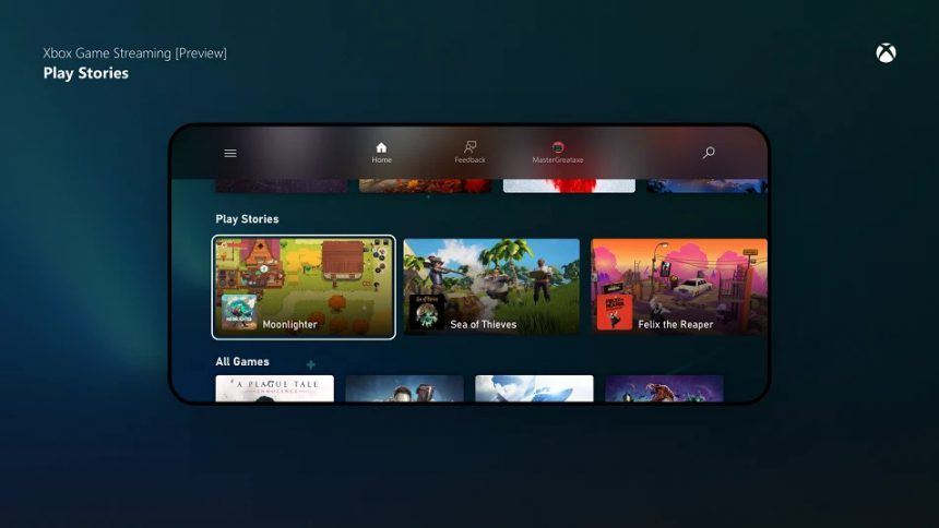 Xbox Game Streaming app per Android aggiornata con Play Stories per xCloud