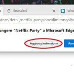 Aggiungi estensione Netflix Party a Microsoft Edge 2