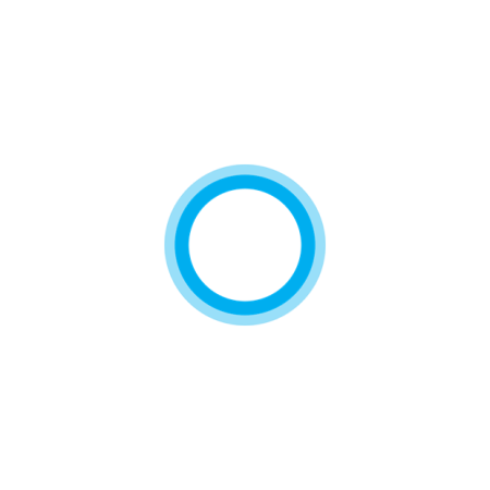 Cortana app per Windows 10 logo