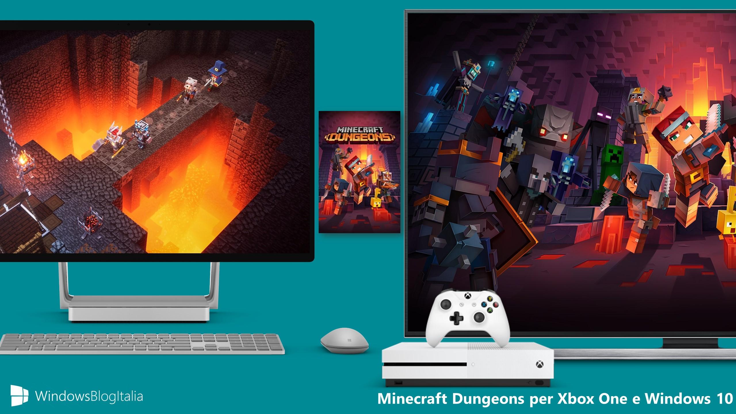 Minecraft Dungeons per Xbox One e Windows 10
