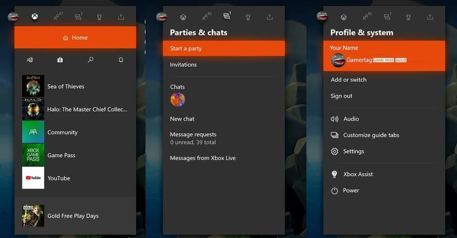 Nuovo ridesign guida di Xbox One