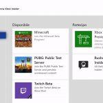 Xbox Insider Hub Beta pagina anteprime