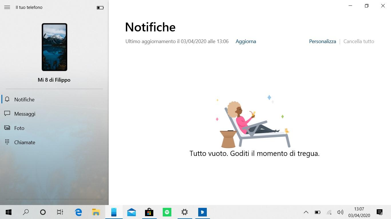Il tuo telefono per Windows 10 nuovi font sezioni
