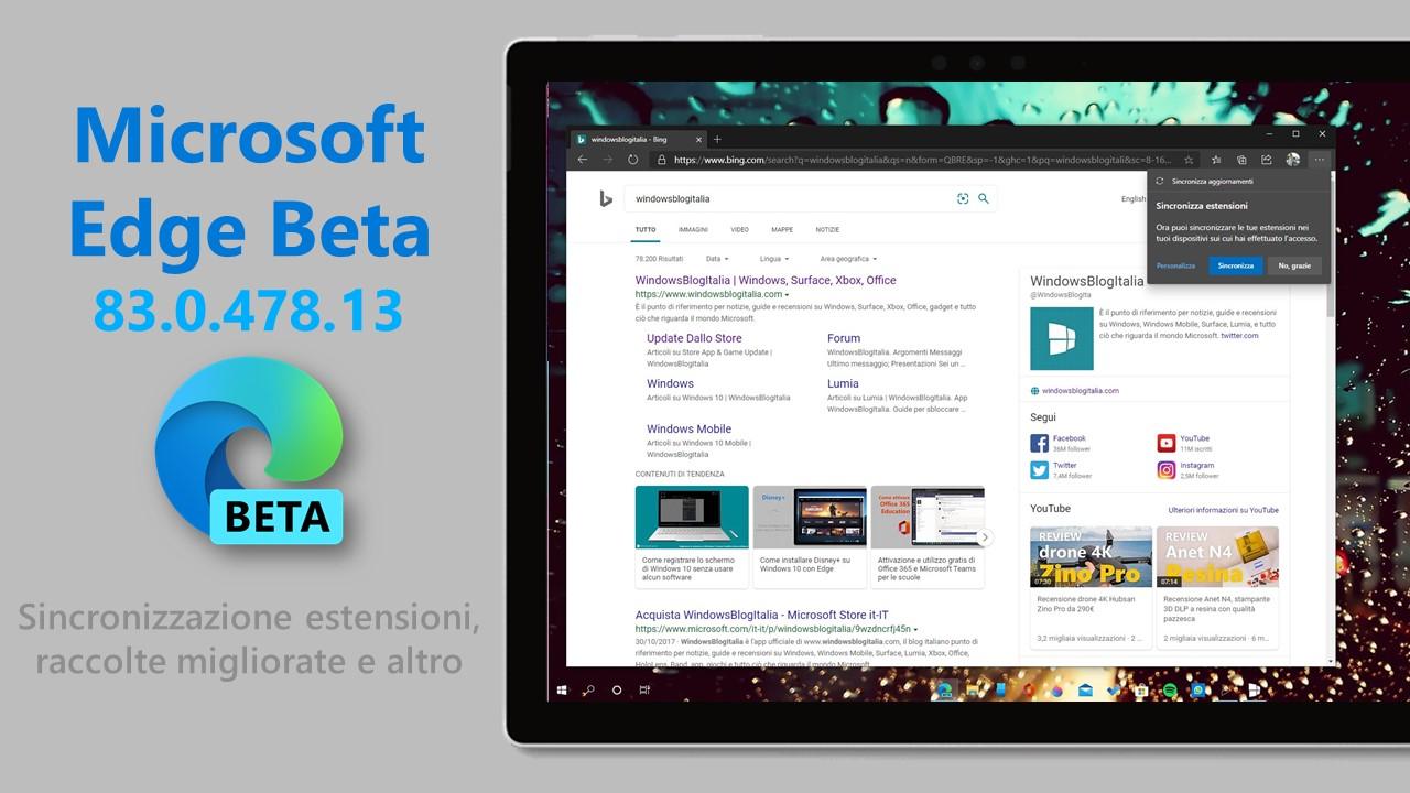 Microsoft Edge Beta 83.0.478.13