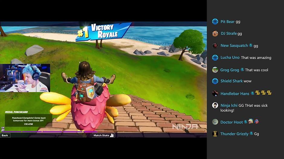 Mixer chat in Xbox One aggiornamento 2004
