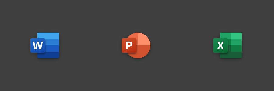 App Office Mobile nuova icona con sfondo grigio per Windows 10