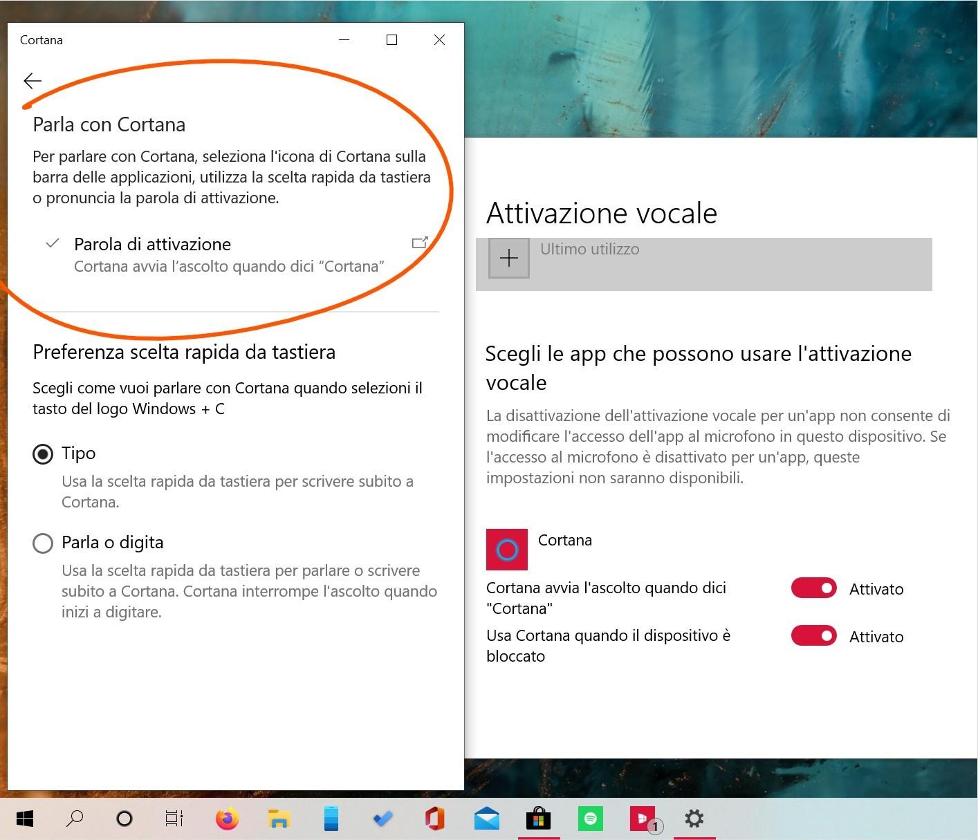 Cortana per Windows 10 May 2020 Update attivazione vocale