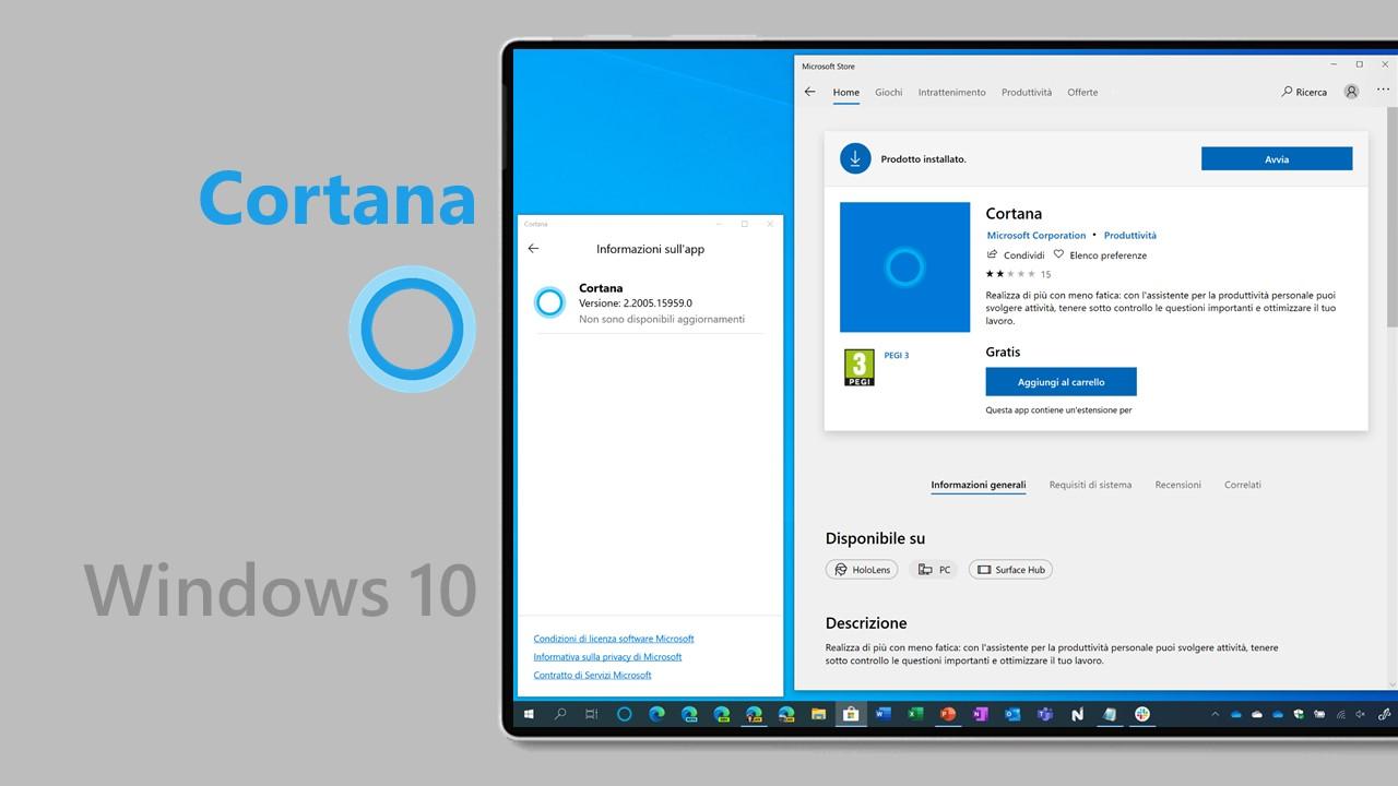 Cortana per Windows 10 esce definitivamente dalla fase beta