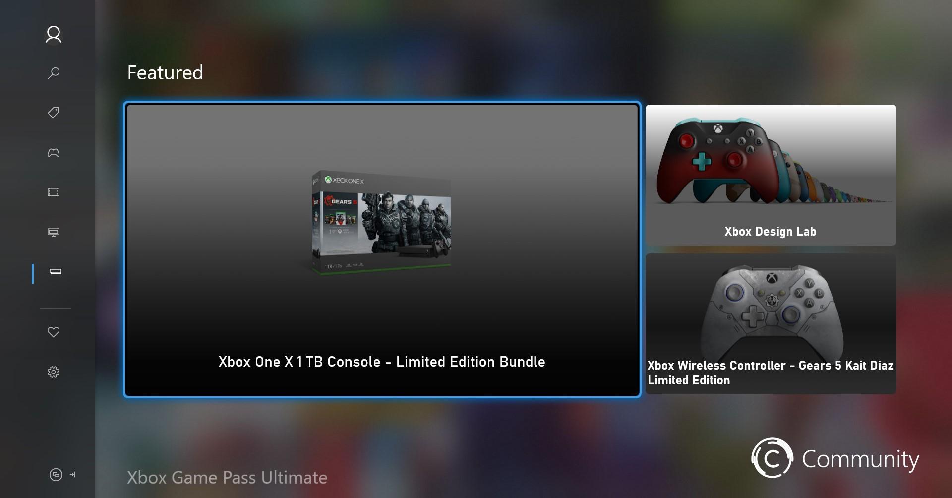 Interfaccia nuovo store Xbox Mercury 6