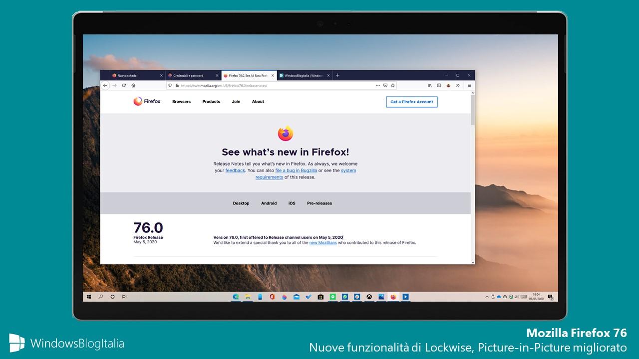 Mozilla Firefox 76