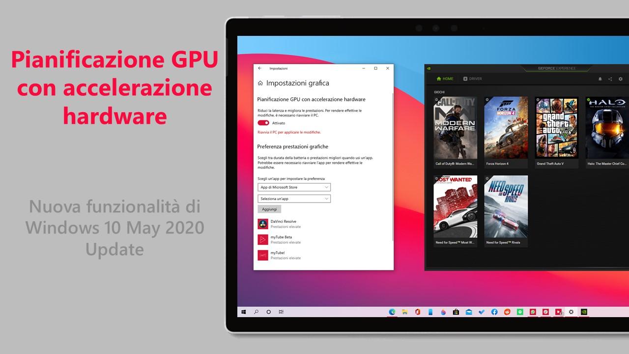 Come abilitare la pianificazione GPU con accelerazione hardware in Windows 10 May 2020 Update
