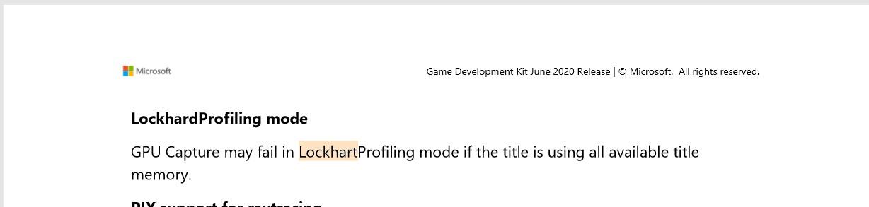 Menzione Lockhart console Xbox Series S nella documentazione Microsoft Game Development Kit di giugno 2020