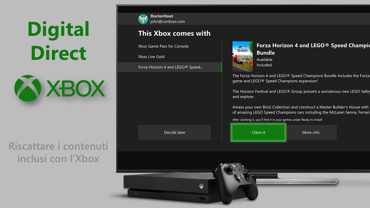 Microsoft Digital Direct per Xbox