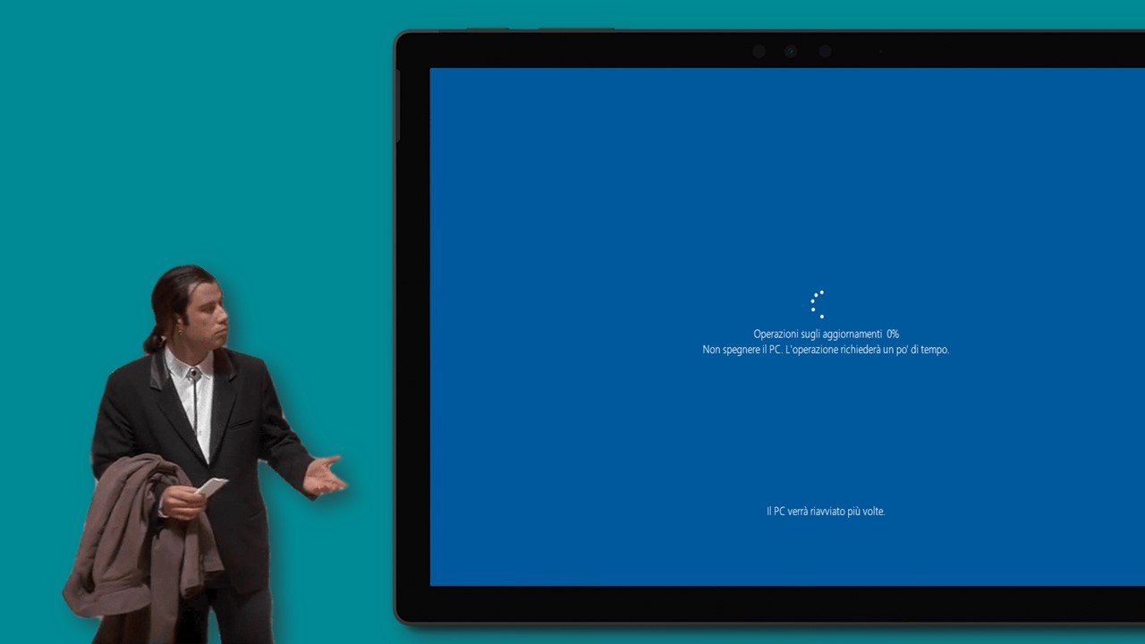 Sondaggio aggiornamenti di Windows 10