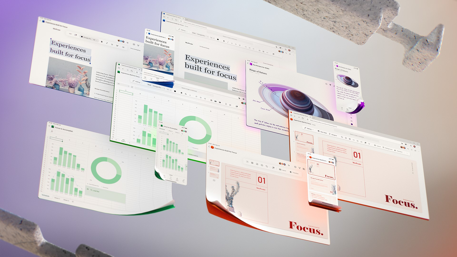 Microsoft 365 e app di Office ridisegnate per il futuro