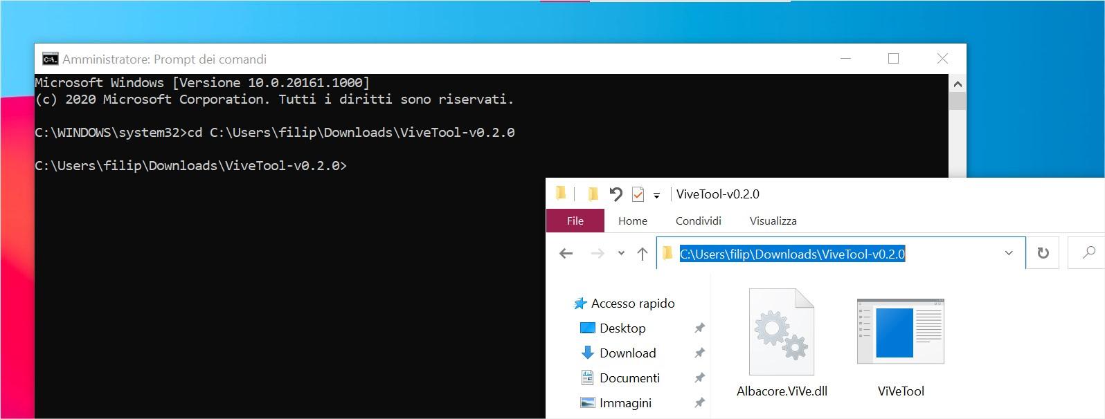 Strumento ViveTool per abilitare il nuovo menu Start di Windows 10