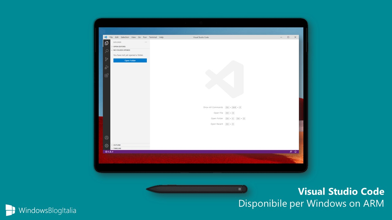 Visual Studio Code disponibile per Windows on ARM