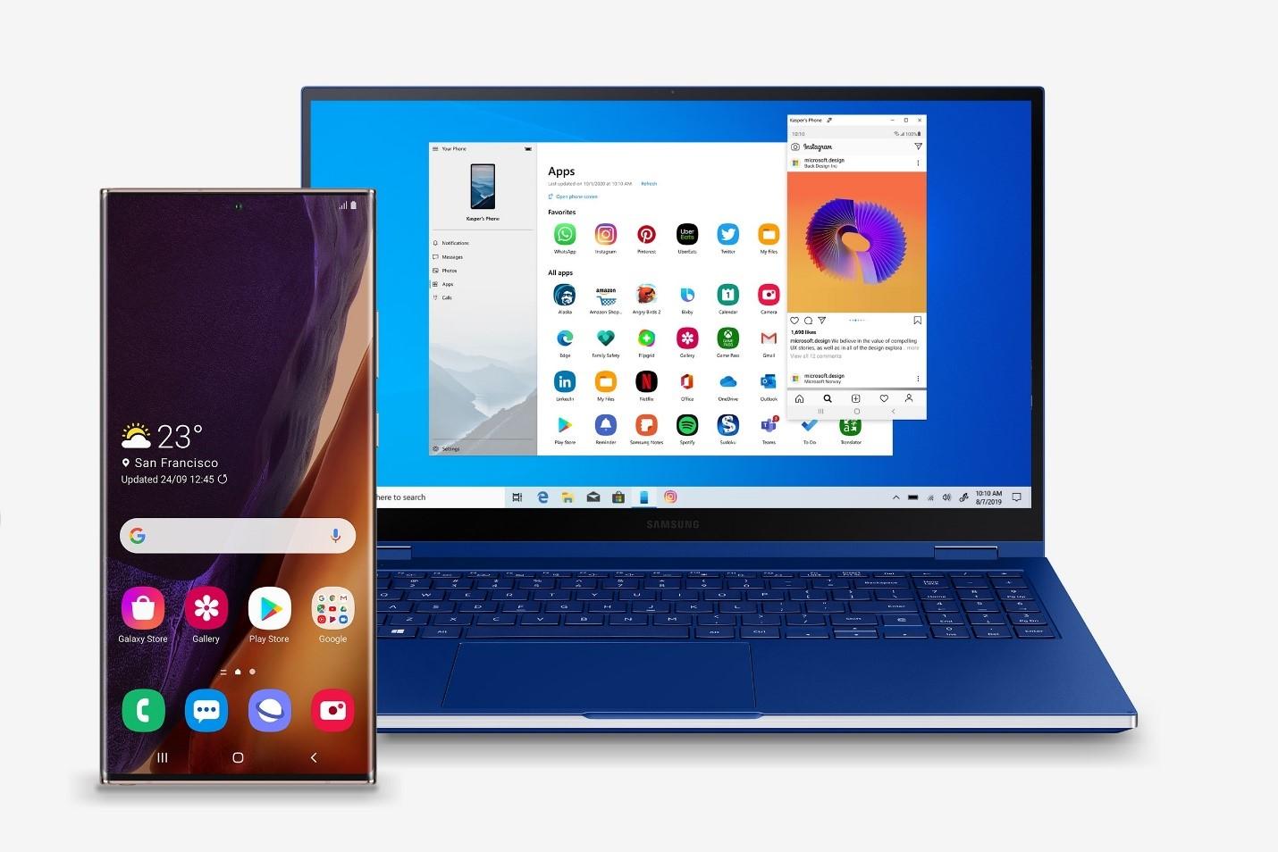 Collaborazione Microsoft e Samsung con Galaxy Note 20